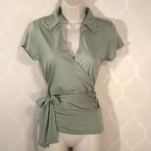 🆕THE LIMITED SAGE GREEN WRAP SHIRT